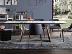Tavolo da pranzo con base in metalloOPERA - APP DESIGN