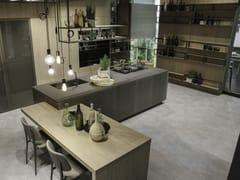 Cucina in alluminio con isola OPERA | Cucina con isola - SISTEMA