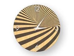 Orologio da parete in legno intarsiatoOPTICAL WARM | Orologio - LEONARDO TRADE