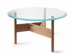 Tavolino basso rotondo in vetro ORBITAL | Tavolino in vetro -