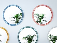 Specchio da parete con cornice in ferro verniciatoORBITALE - HIRO