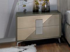 Comodino in legno con cassettiMORFEO | Comodino - LINEA & CASA +39