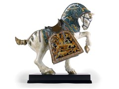 Soprammobile in porcellanaORIENTAL HORSE GLAZED - LLADRÓ