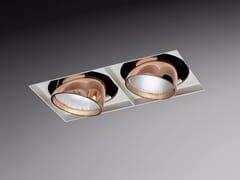 Faretto a LED multiplo in alluminio verniciato a polvere da incasso ORIENTE SQUARE | Faretto multiplo -