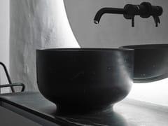 Lavabo da appoggio rotondo ORIGIN | Lavabo in marmo di Carrara - Origin