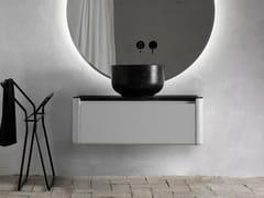 Mobile lavabo laccato singolo sospeso ORIGIN | Mobile lavabo con cassetti - Origin