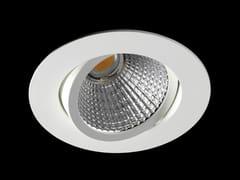 Faretto a LED orientabile in alluminio verniciato a polvere da incasso ORION FLEX -