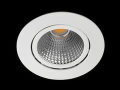 Faretto a LED orientabile in alluminio verniciato a polvere da incasso ORION -