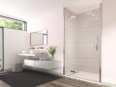 Porta a battente in vetro per doccia con pannello in lineaORO HINGE WITH INLINE PANEL DOOR - FLAIR SHOWERS