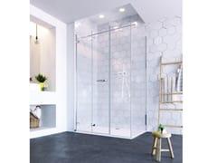 Flair Showers, ORO ULTRAFRAMELESS - BIFOLD DOOR Porta a soffietto per doccia con lato fisso