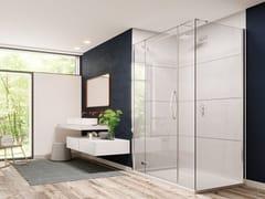 Porta a battente per doccia con pannello in linea ed angoloORO ULTRAFRAMELESS - DOOR + INLINE PANEL - FLAIR SHOWERS