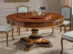Tavolo da salotto rotondo in legno in stile classico con Lazy SusanORPHEO MAGGIOLINI | Tavolo con Lazy Susan - ARVESTYLE