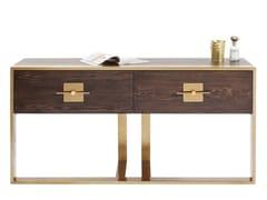 Consolle rettangolare in legno impiallacciato con cassettiOSAKA   Consolle - KARE DESIGN