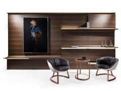 Parete attrezzata componibile in legno impiallacciato con illuminazione integrataOSBORNE - VISIONNAIRE BY IPE