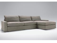 Divano imbottito in tessuto a 4 posti con chaise longue OSCAR | Divano con chaise longue - Oscar