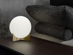 Lampada da tavolo a LED in vetro e ottoneOSCAR - TERZANI