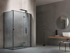 Box doccia angolare con porta a battenteOTTO | Box doccia angolare - ARBLU