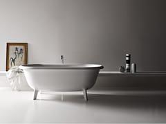 Agape, OTTOCENTO SMALL Vasca da bagno ovale in Cristalplant® su piedi
