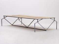 Scrivania rettangolare in acciaio e legnoOUM - MAZANLI