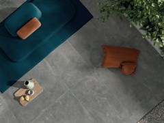Lastra per esterno in gres porcellanato OUT.20 BLEND CONCRETE Grey - ABK GROUP INDUSTRIE CERAMICHE