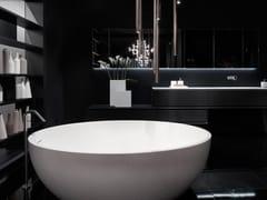 RIFRA, OVAL Vasca da bagno centro stanza ovale in Solid Surface