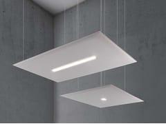 Pannello acustico a sospensione in tessuto con illuminazione integrataOVERSIZE LUX - CAIMI BREVETTI