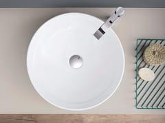 Lavabo da appoggio rotondo in ceramica OVVIO BACINELLA - Ovvio