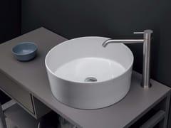Lavabo da appoggio rotondo in ceramica OVVIO VASO - Ovvio