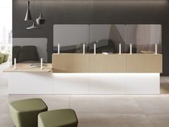 Pannello divisorio da scrivania in vetro temperatoOYO | Pannello divisorio da scrivania - LAS MOBILI