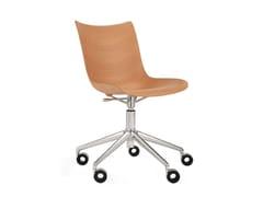 Sedia girevole in legnoP/WOOD | Sedia girevole - KARTELL