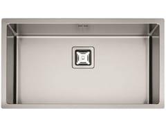 Lavello a una vasca in acciaio inoxP1B 8545 Q F-SF | Lavello - FULGOR MILANO BY MENEGHETTI