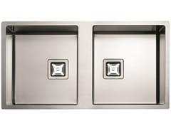 Lavello a 2 vasche in acciaio inoxP2B 8545 Q F-SF | Lavello - FULGOR MILANO BY MENEGHETTI