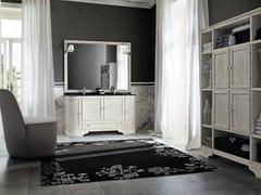 Mobile lavabo doppio in legno con ante con specchioPAESTUM 36 - CERASA