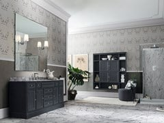 Mobile lavabo in legno con specchioPAESTUM 28 - CERASA