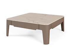 Tavolino in noce canaletto e piano in marmo Calacatta oroPALAIS ROYAL | Tavolino quadrato - BELLOTTI EZIO ARREDAMENTI