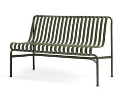 Panca da giardino in acciaio con schienalePALISSADE | Panca da giardino con schienale - HAY