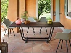 Tavolo in acciaio e legnoPALOALTO | Tavolo - ALMA DESIGN