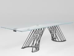 Tavolo allungabile rettangolare in cristalloPAMPLONA | Tavolo allungabile - BAREL