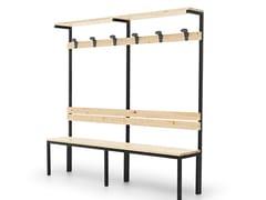 Panca per impianti sportivi in metallo e legnoPANCK | Panchina per impianti sportivi - FANTIN
