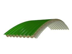 Pannello coibentato curvo a raggio variabile PANEL C RW-GG LANA DI ROCCIA -