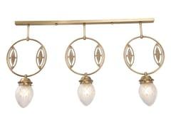 Lampada a sospensione fatta a mano in ottonePANNON II   Lampada a sospensione - PATINAS LIGHTING