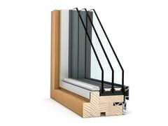 Vetrata scorrevole in alluminio e legnoPANORAMA HX 300 - INTERNORM ITALIA