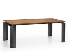 Tavolo da pranzo con base in metalloPANTA REI - APP DESIGN
