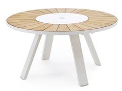 Tavolo da giardino rotondo in iroko con Lazy Susan PANTAGRUEL | Tavolo - Pantagruel
