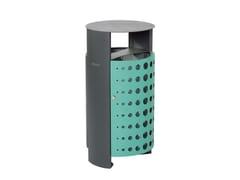 Punto Design, PAPILON Portarifiuti in acciaio con coperchio per esterni