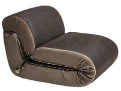 Poltrona letto in pelle e tessutoPAPPAGALLE | Poltrona letto - MANTELLASSI DESIGN