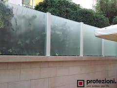 Recinzione paravento in alluminio e vetro temperato con LEDPAREO FLOOR/TOP - PROTEZIONI