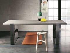 Tavolo da salotto rettangolare in rovere PARIGI + SUPER IRON - ECOLAB 2