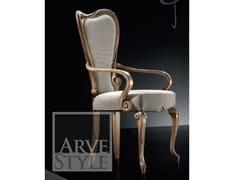 Sedia imbottita in legno con braccioliPARQUET | Sedia con braccioli - ARVESTYLE