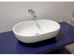Lavabo da appoggio ovale in ceramica in stile moderno PASS 62 | Lavabo da appoggio - Pass